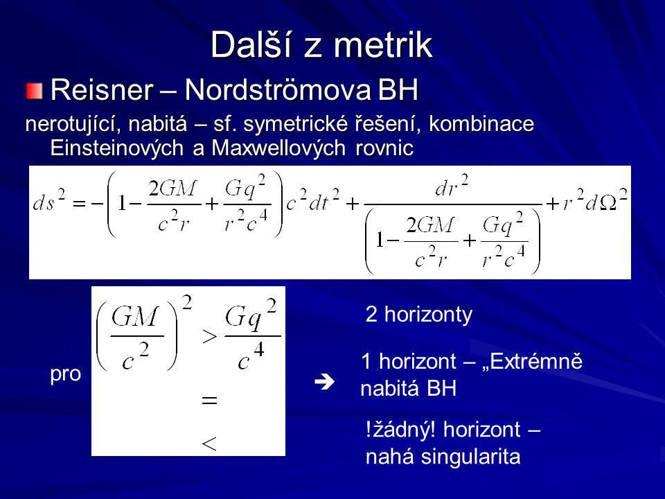 Další z metrik Reisner – Nordströmova BH