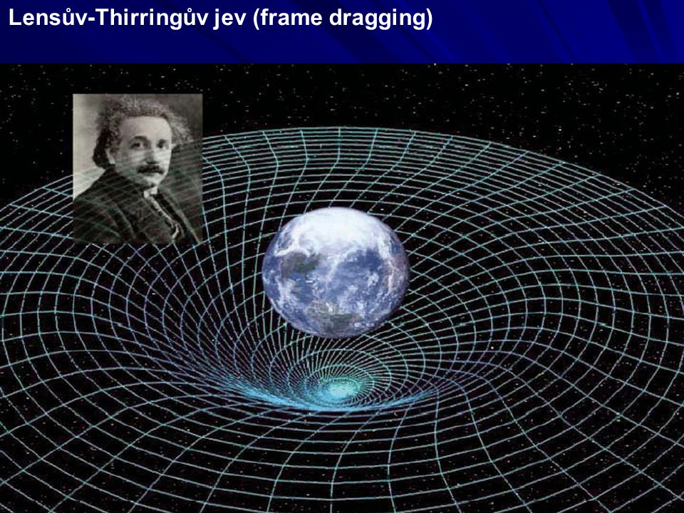 Lensův-Thirringův jev (frame dragging)