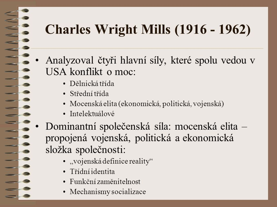 Charles Wright Mills (1916 - 1962)