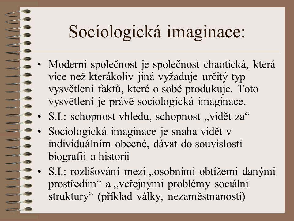 Sociologická imaginace: