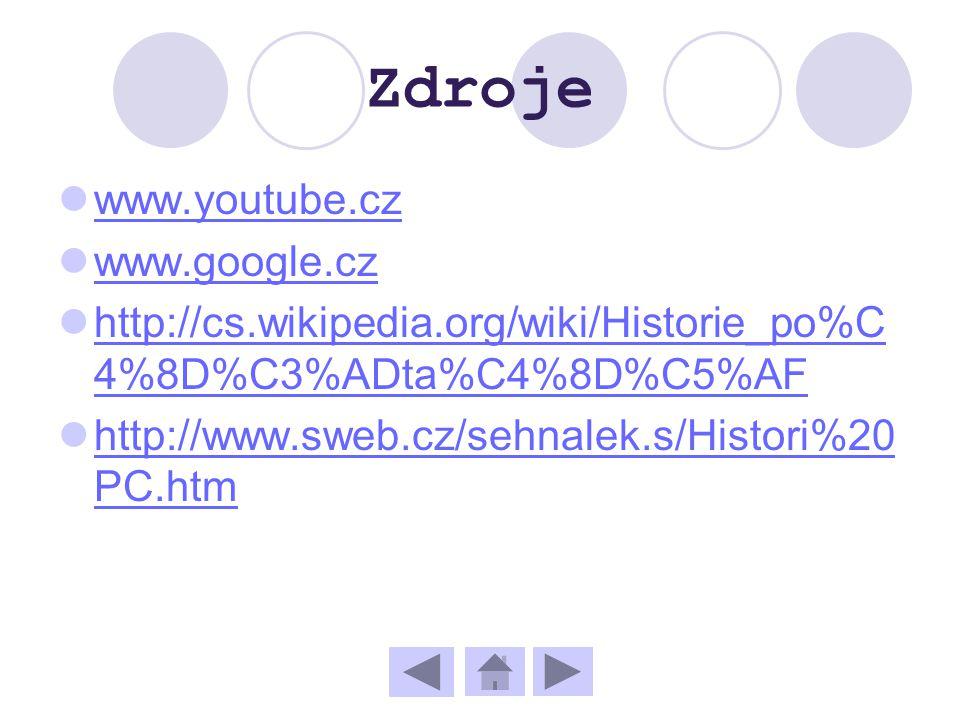 Zdroje www.youtube.cz www.google.cz