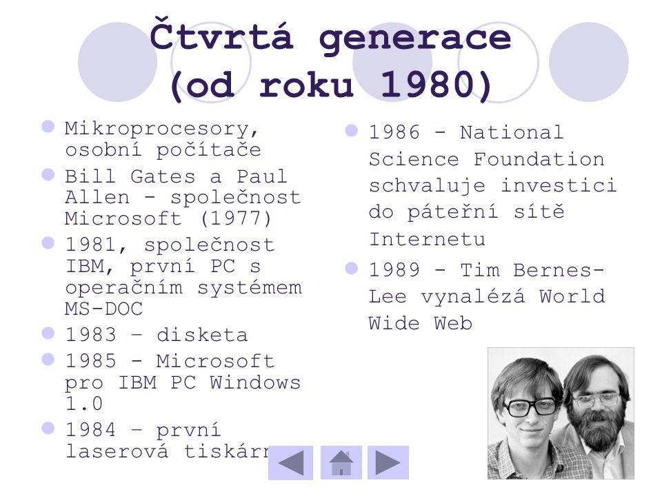 Čtvrtá generace (od roku 1980)