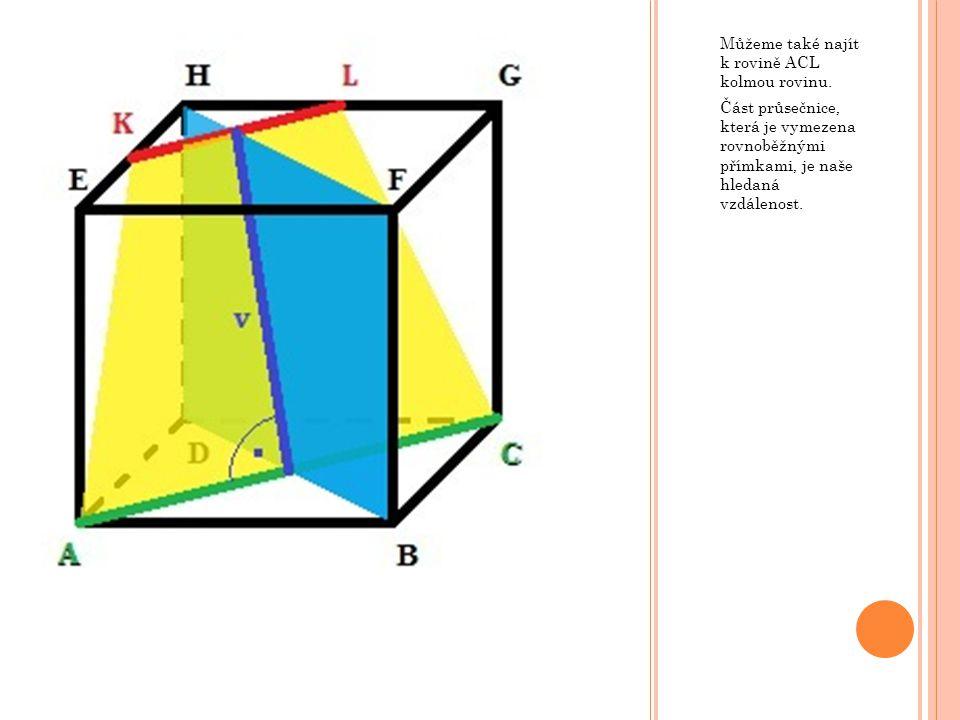 Můžeme také najít k rovině ACL kolmou rovinu.