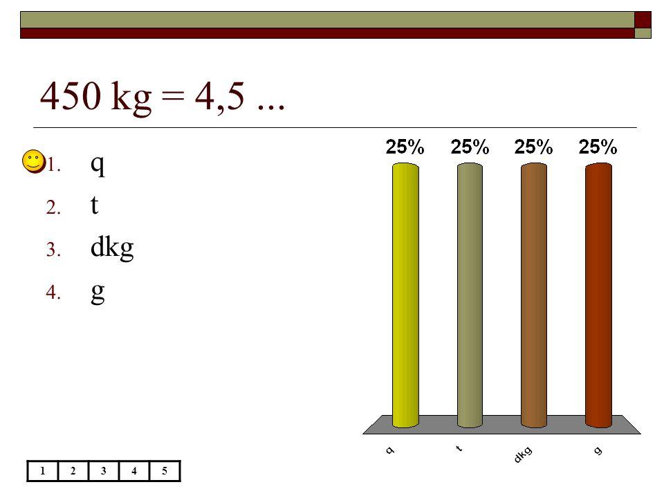 450 kg = 4,5 ... q t dkg g 1 2 3 4 5