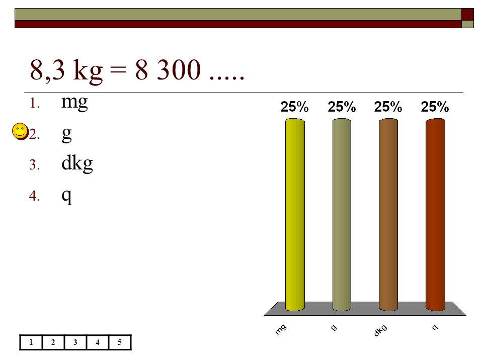 8,3 kg = 8 300 ..... mg g dkg q 1 2 3 4 5