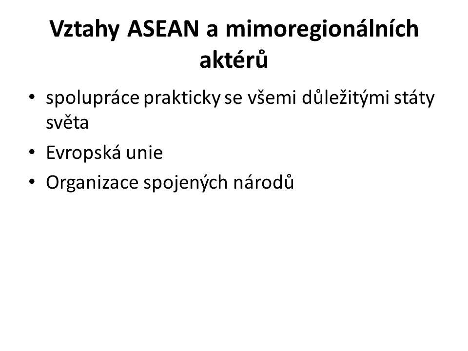 Vztahy ASEAN a mimoregionálních aktérů