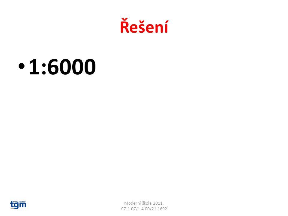 Řešení 1:6000 Moderní škola 2011, CZ.1.07/1.4.00/21.1692