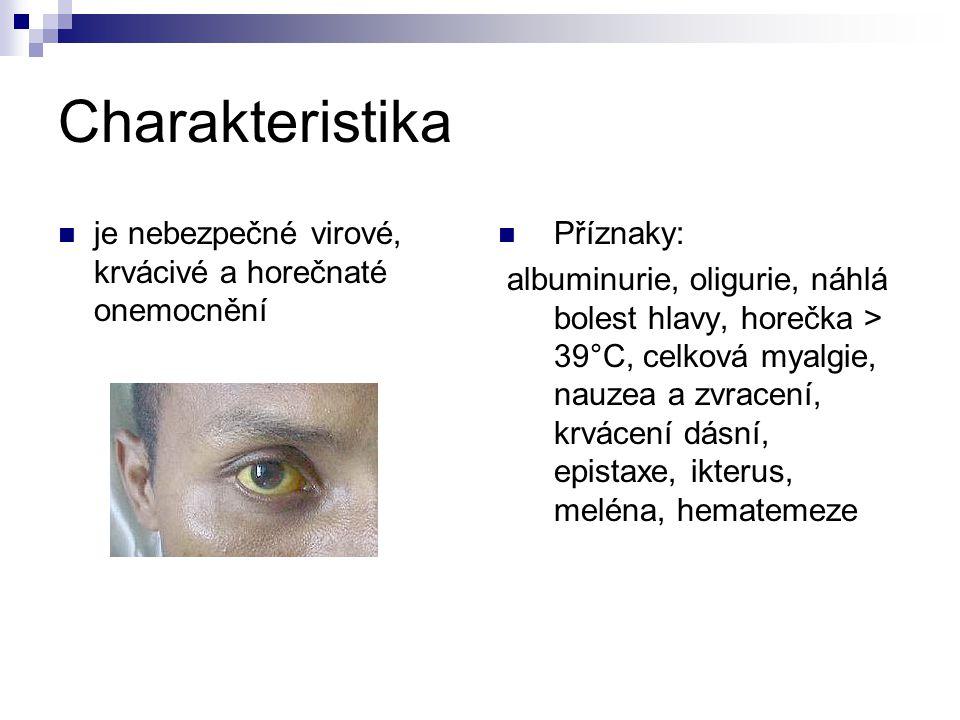 Charakteristika je nebezpečné virové, krvácivé a horečnaté onemocnění