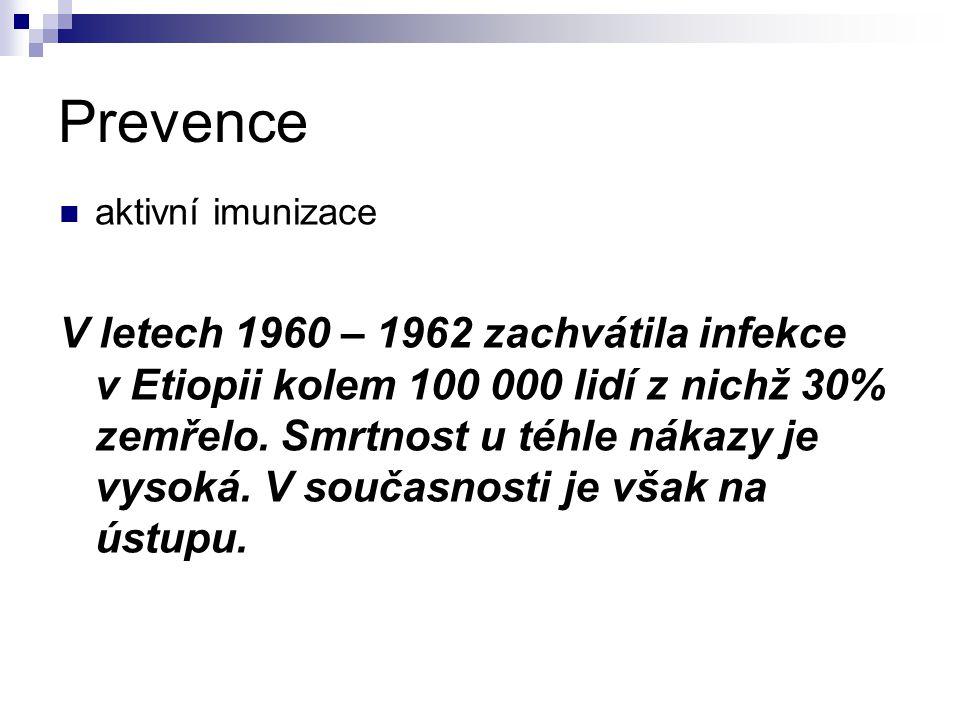 Prevence aktivní imunizace.