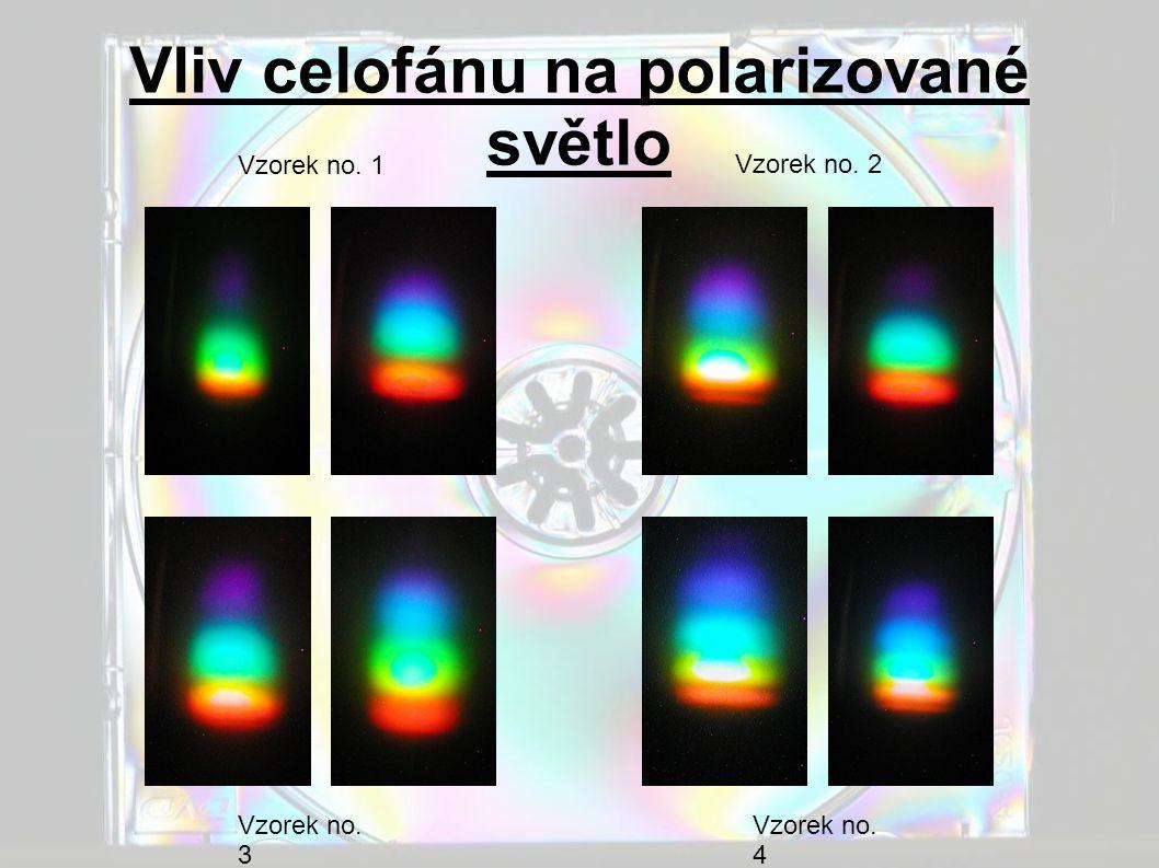Vliv celofánu na polarizované světlo