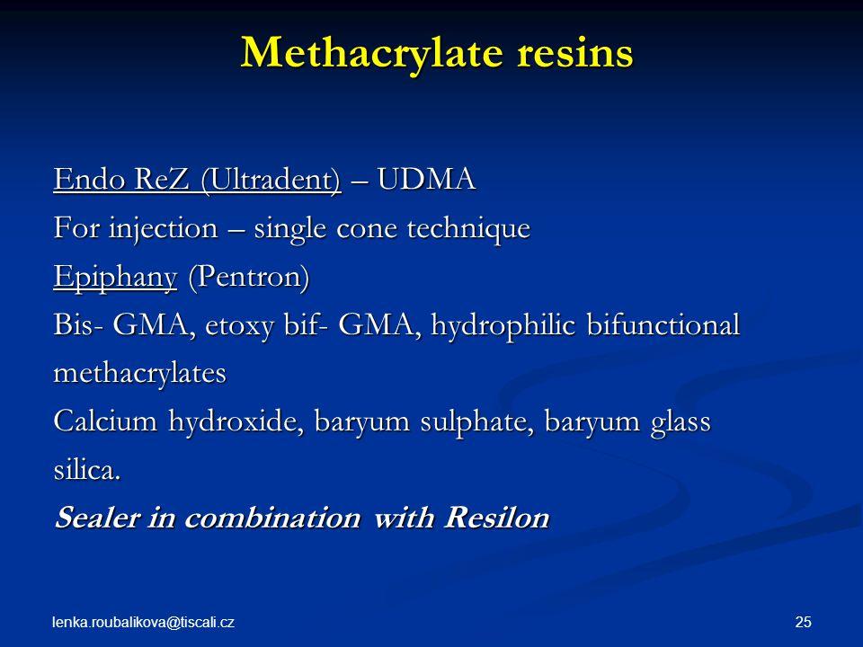 Methacrylate resins Endo ReZ (Ultradent) – UDMA