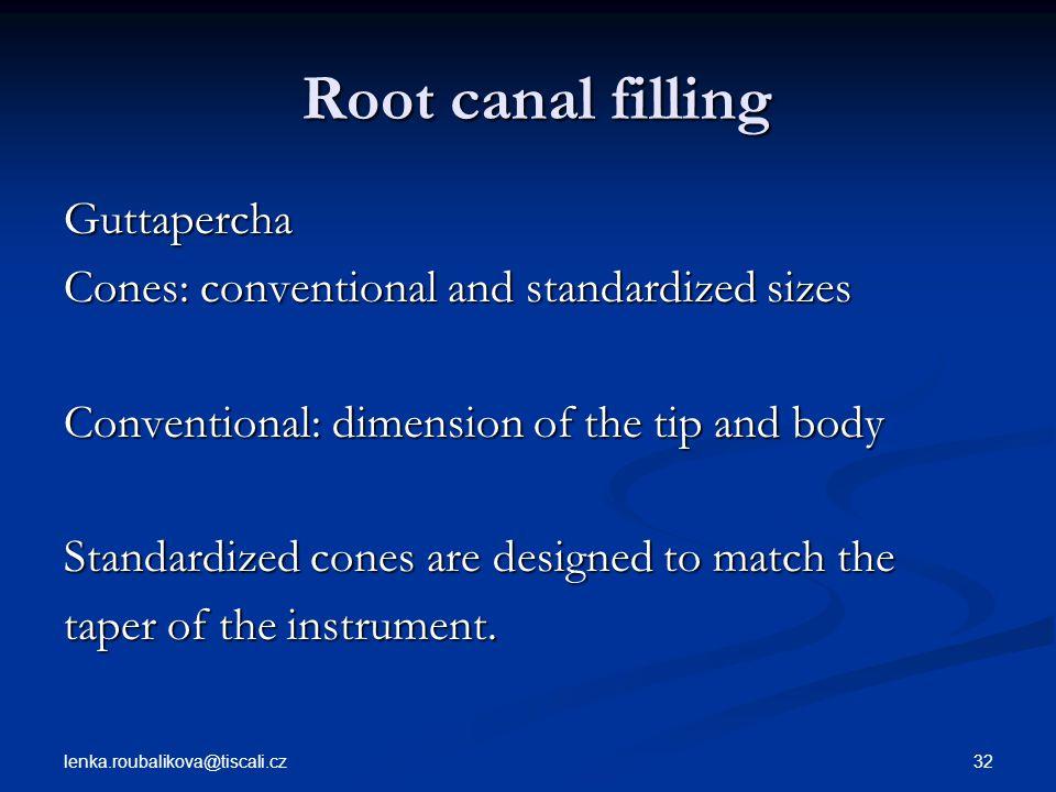 Root canal filling Guttapercha
