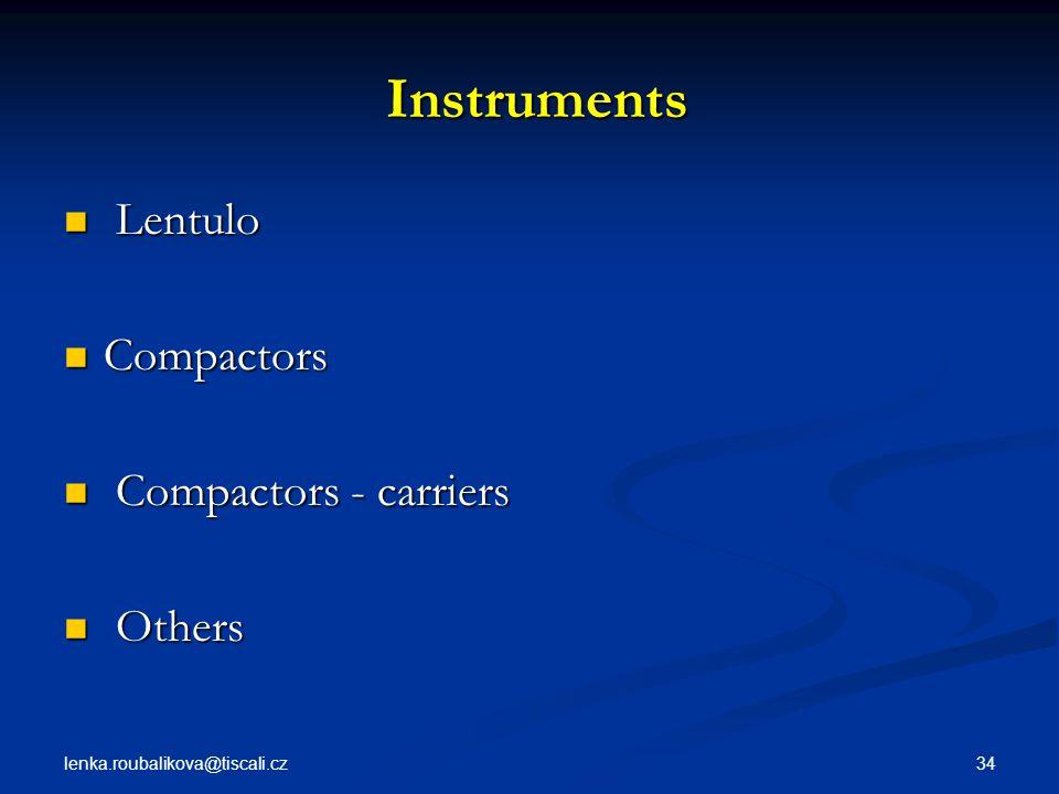 Instruments Lentulo Compactors Compactors - carriers Others