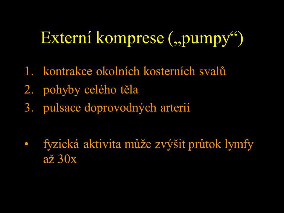 """Externí komprese (""""pumpy )"""