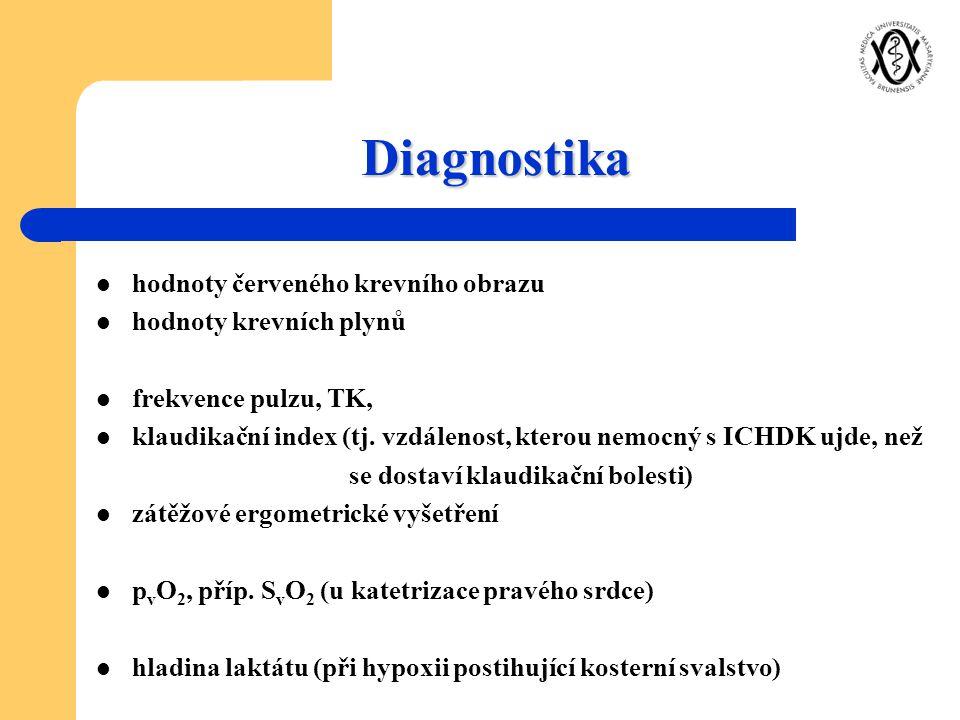 Diagnostika hodnoty červeného krevního obrazu hodnoty krevních plynů