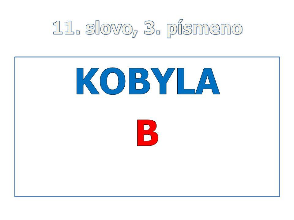 11. slovo, 3. písmeno KOBYLA B