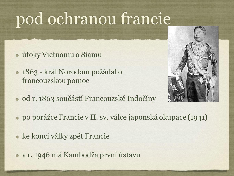 pod ochranou francie útoky Vietnamu a Siamu