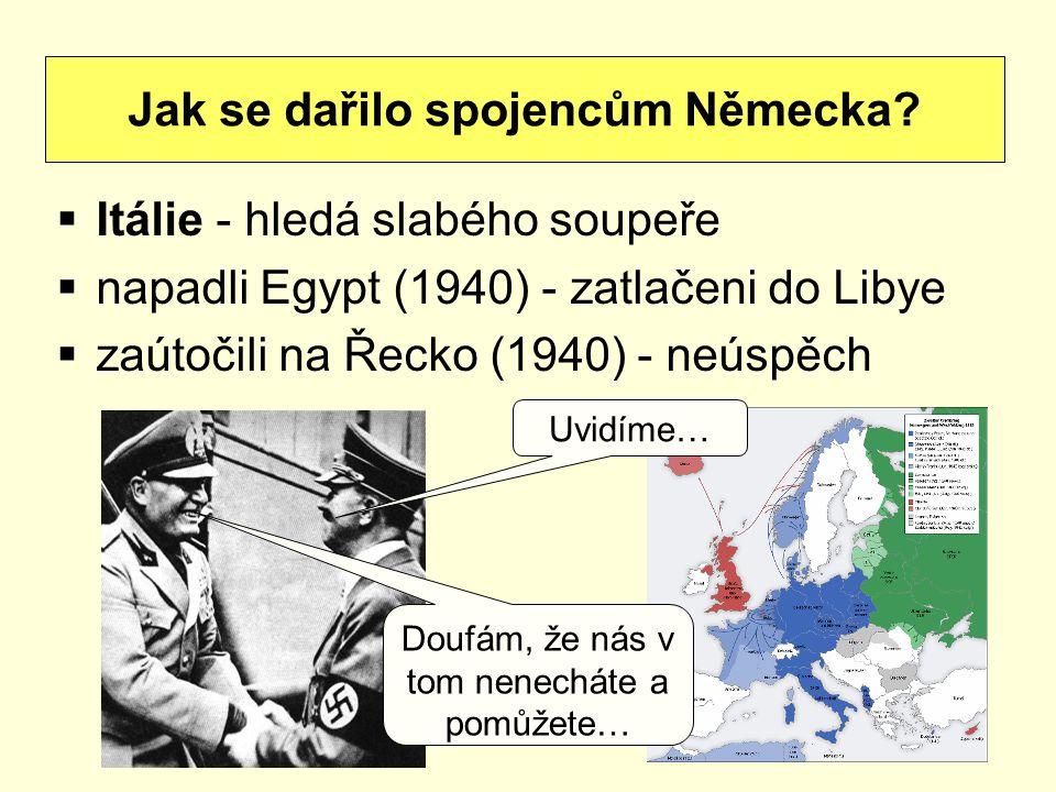 Jak se dařilo spojencům Německa
