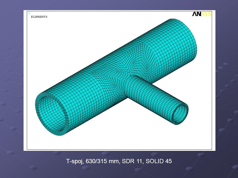 T-spoj, 630/315 mm, SDR 11, SOLID 45