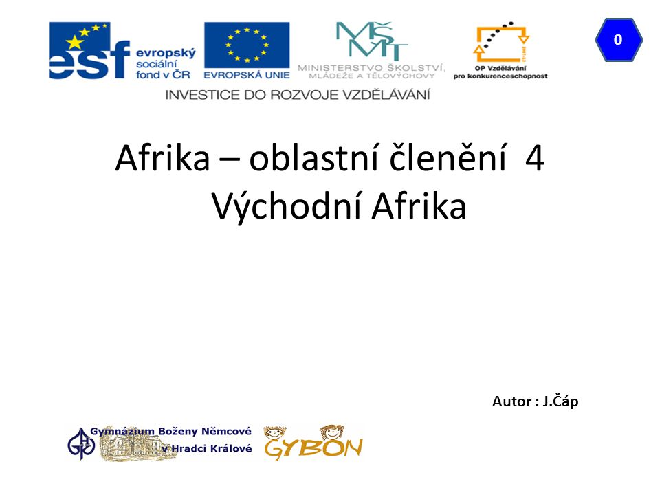 Afrika – oblastní členění 4 Východní Afrika