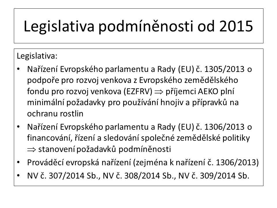 Legislativa podmíněnosti od 2015