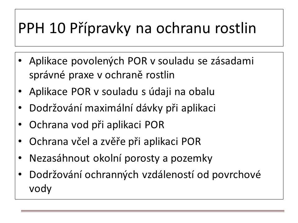 PPH 10 Přípravky na ochranu rostlin