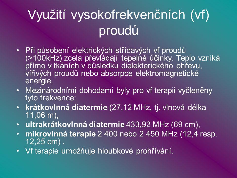 Využití vysokofrekvenčních (vf) proudů
