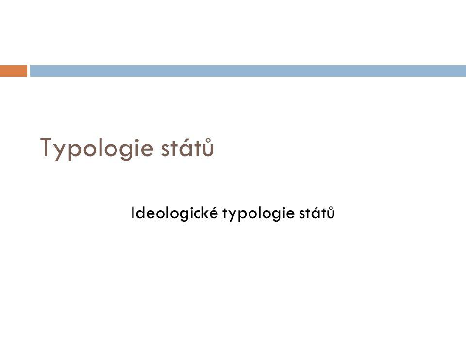 Ideologické typologie států