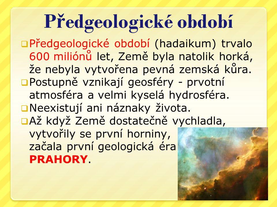 Předgeologické období
