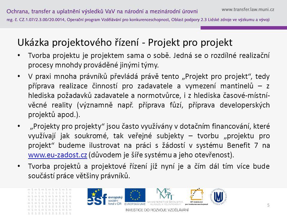 Ukázka projektového řízení - Projekt pro projekt