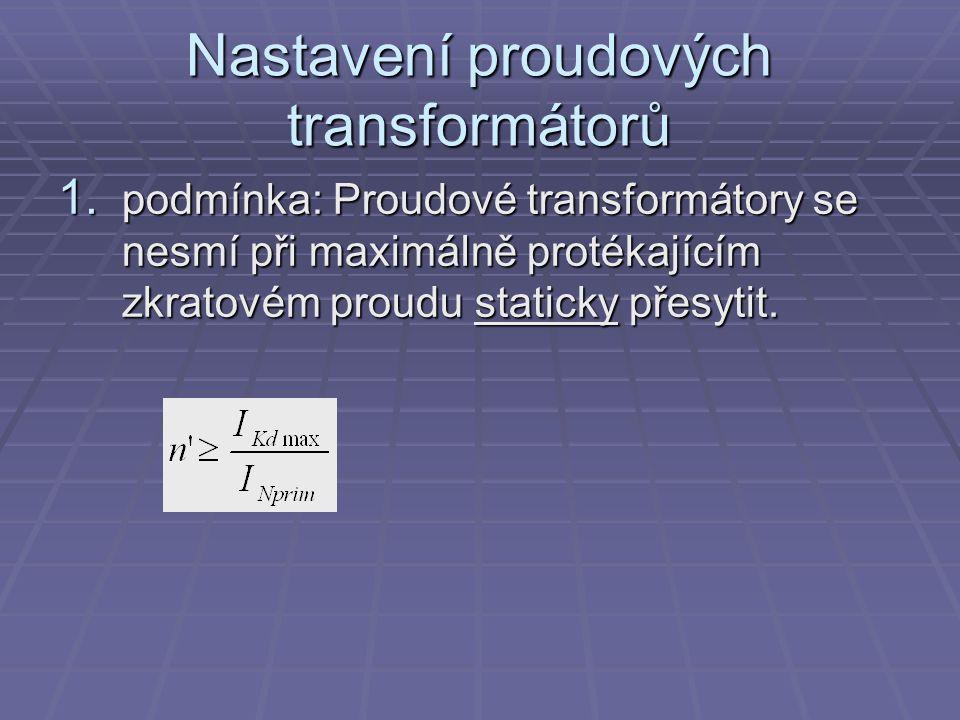 Nastavení proudových transformátorů