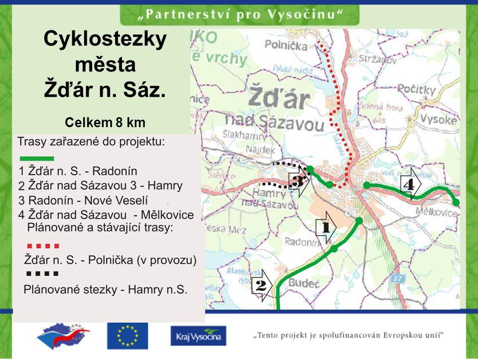 Cyklostezky města Žďár n. Sáz. Celkem 8 km