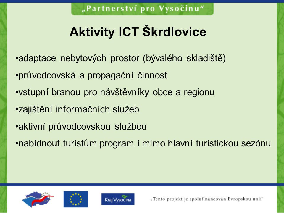 Aktivity ICT Škrdlovice