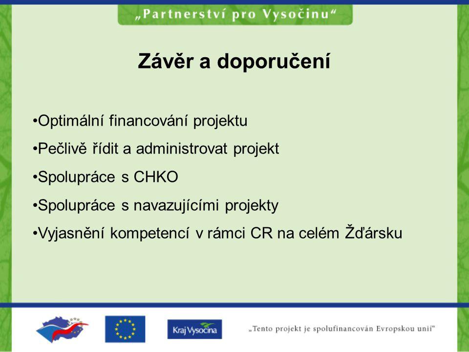 Závěr a doporučení Optimální financování projektu