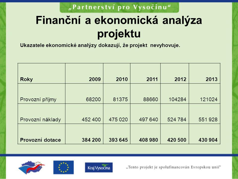 Finanční a ekonomická analýza projektu