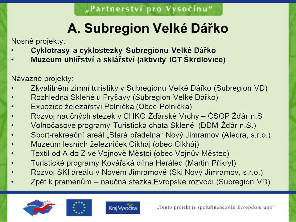 A. Subregion Velké Dářko