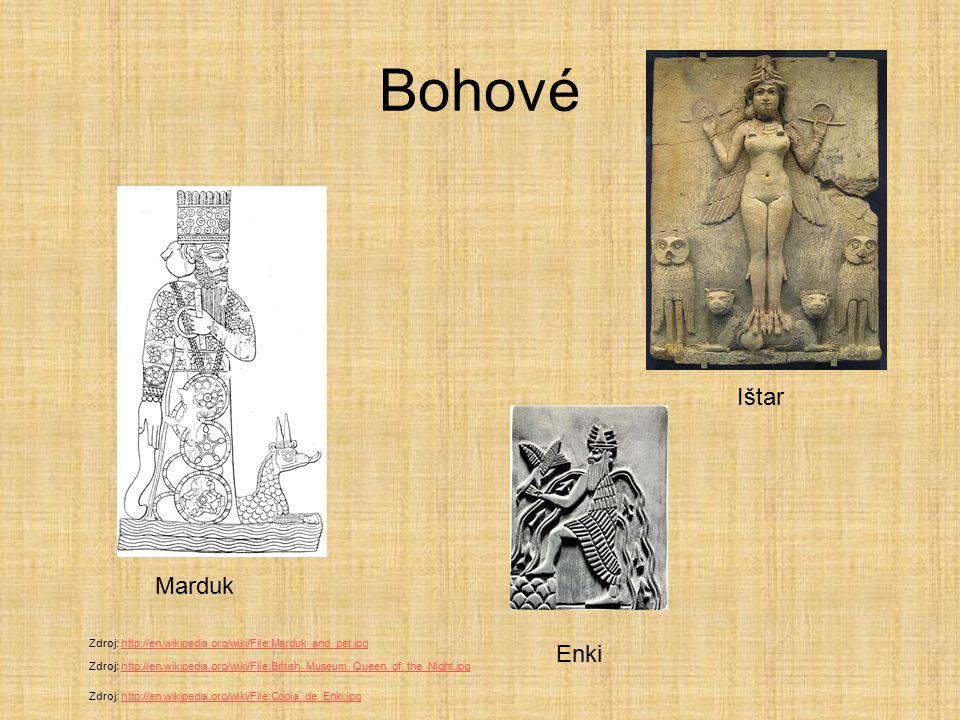 Bohové Ištar Marduk Enki