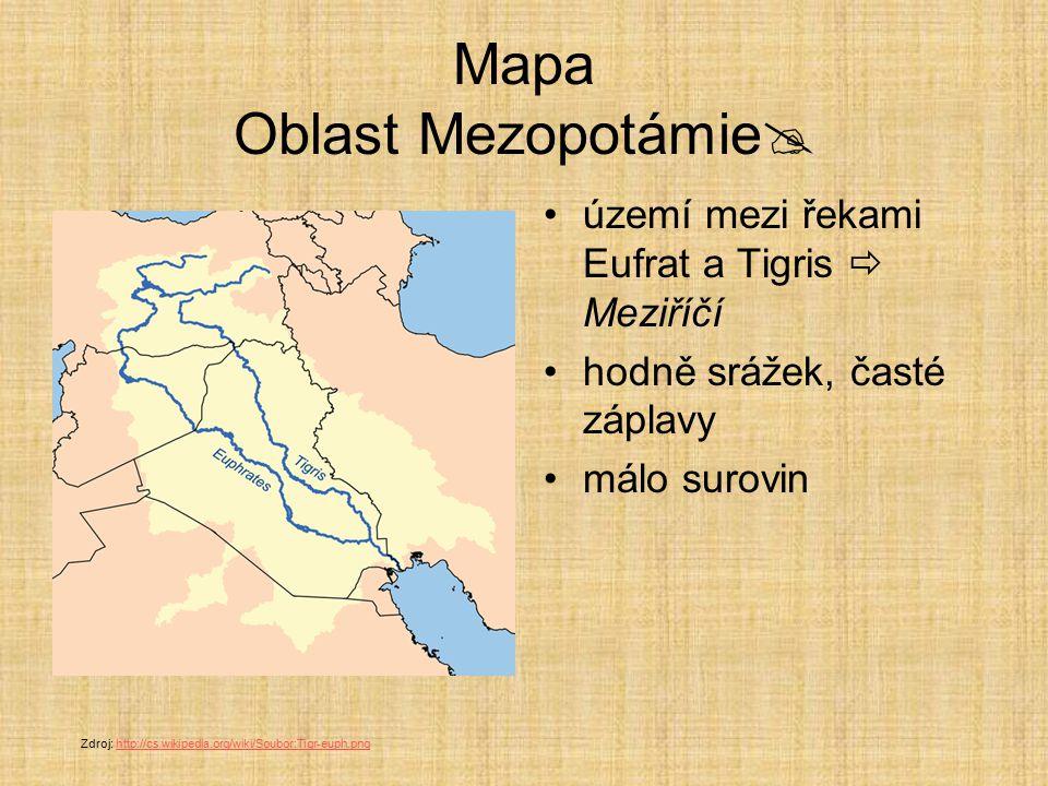 Mapa Oblast Mezopotámie