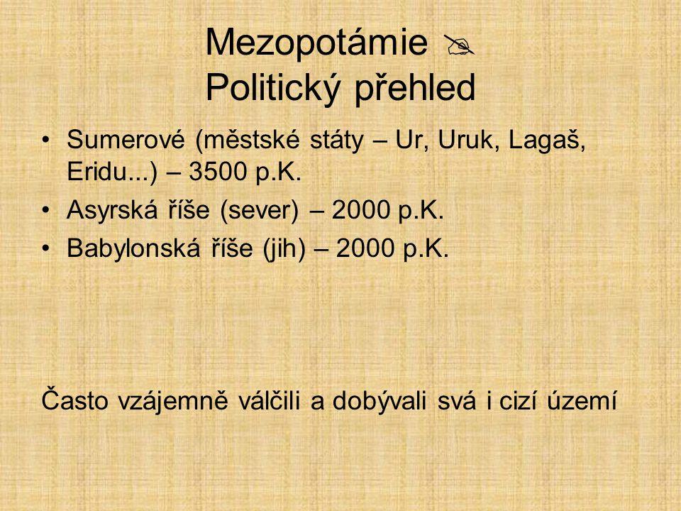 Mezopotámie  Politický přehled