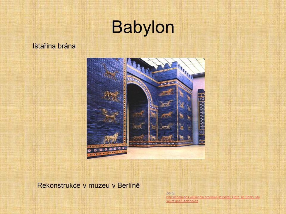 Babylon Ištařina brána Rekonstrukce v muzeu v Berlíně