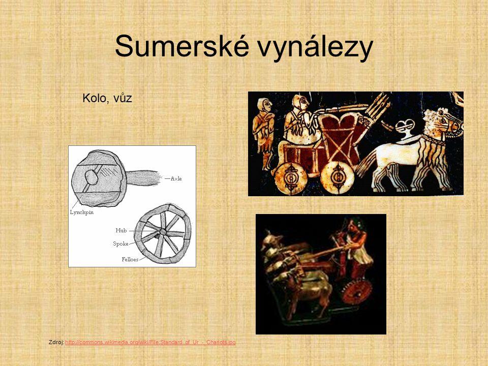 Sumerské vynálezy Kolo, vůz