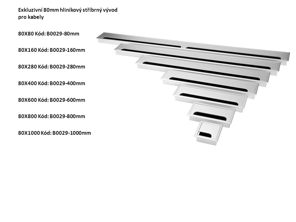 Exkluzivní 80mm hliníkový stříbrný vývod pro kabely