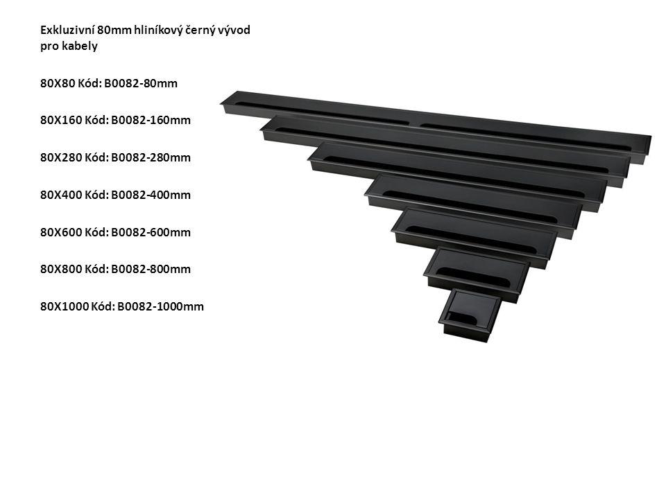 Exkluzivní 80mm hliníkový černý vývod pro kabely