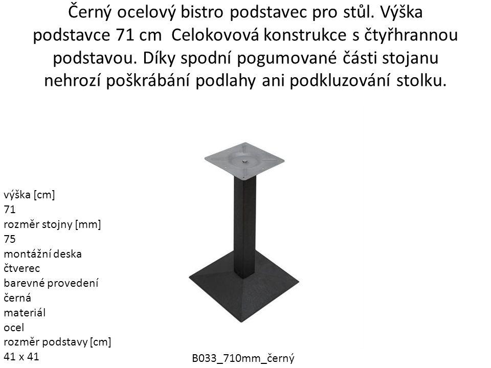 Černý ocelový bistro podstavec pro stůl
