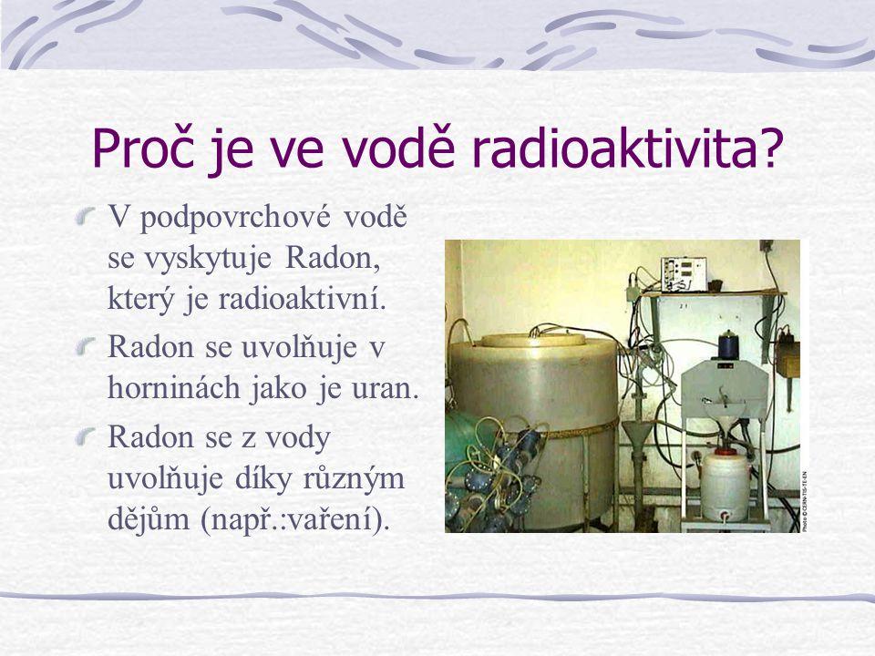 Proč je ve vodě radioaktivita
