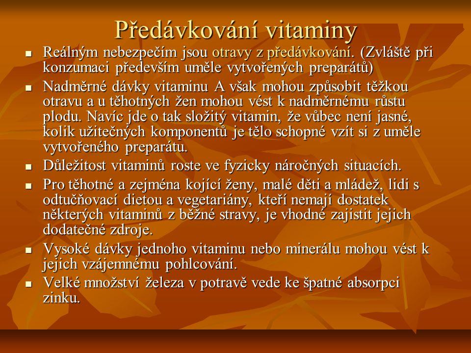 Předávkování vitaminy