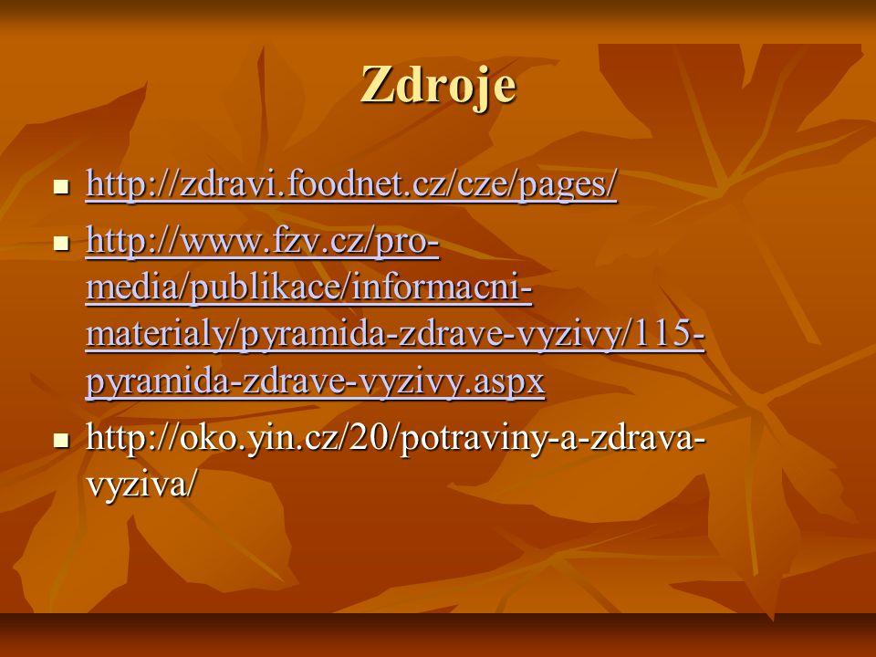 Zdroje http://zdravi.foodnet.cz/cze/pages/