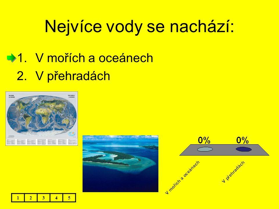 Nejvíce vody se nachází: