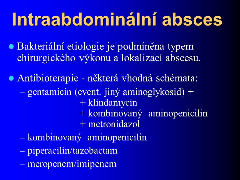 Intraabdominální absces