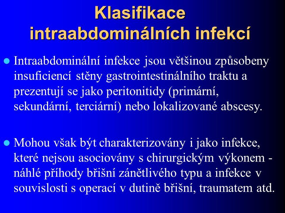 Klasifikace intraabdominálních infekcí